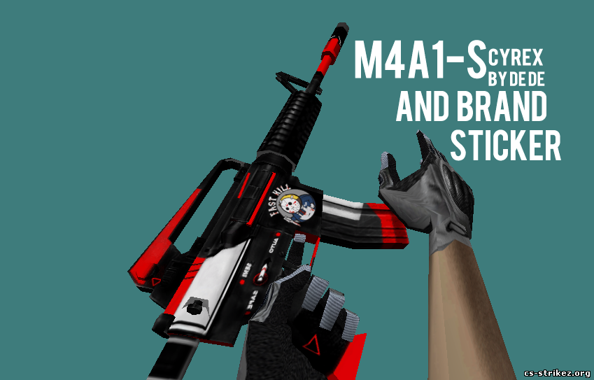 M4A1-S CYREX AND BRAND STICKER | By De De :)